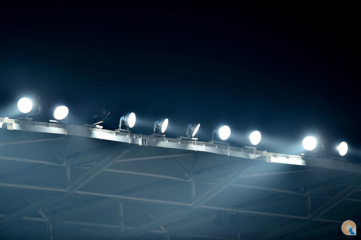 Floodlight maintenance from Surfacelux