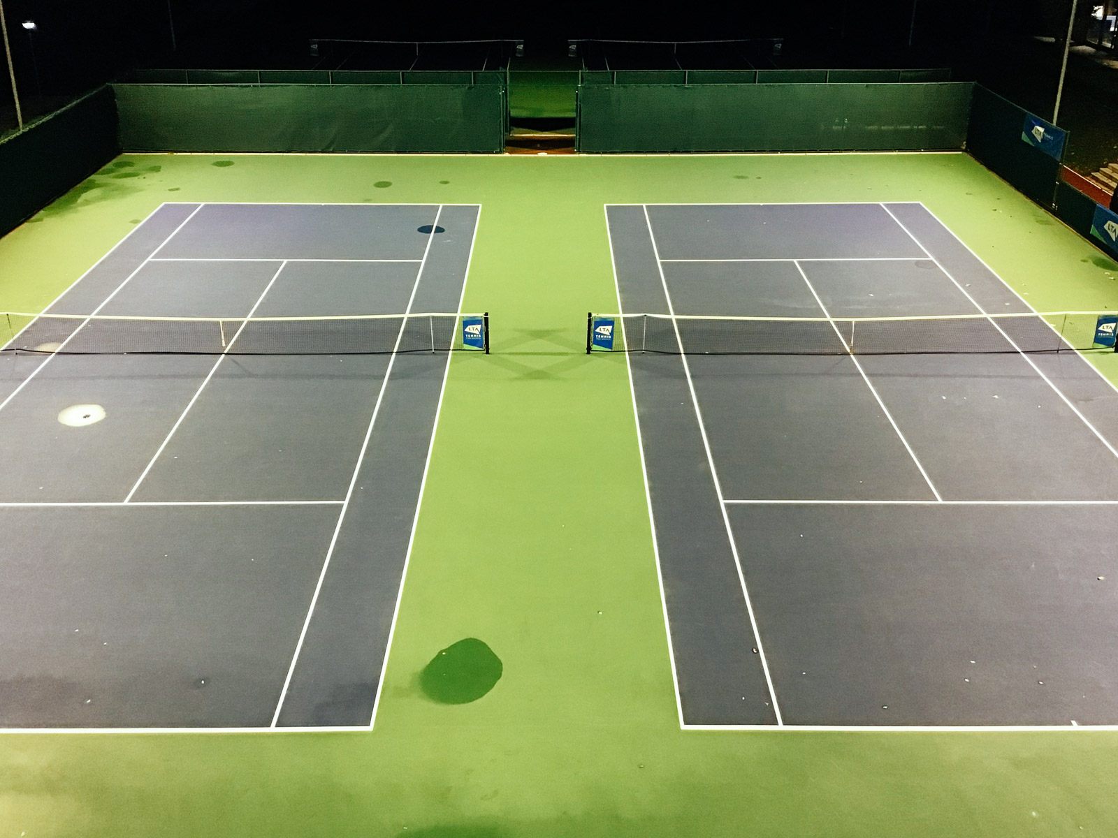 Floodlight upgrades at Roehampton outdoor courts