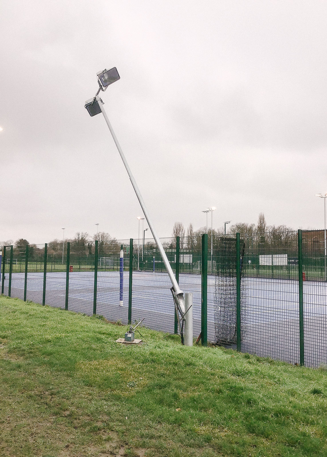 Floodlight maintenance carried out by Surfacelux in Catford