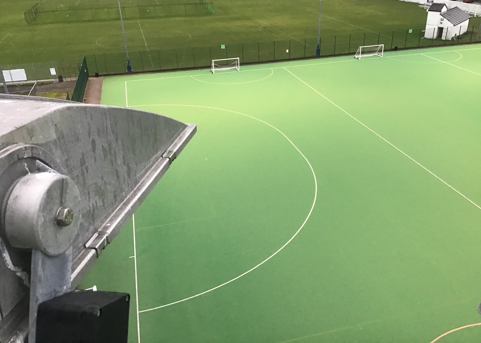 Repairs to floodlights at Wigan hockey pitch