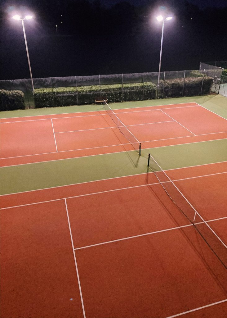 Refurbished floodlights installed at Cheshire tennis courts