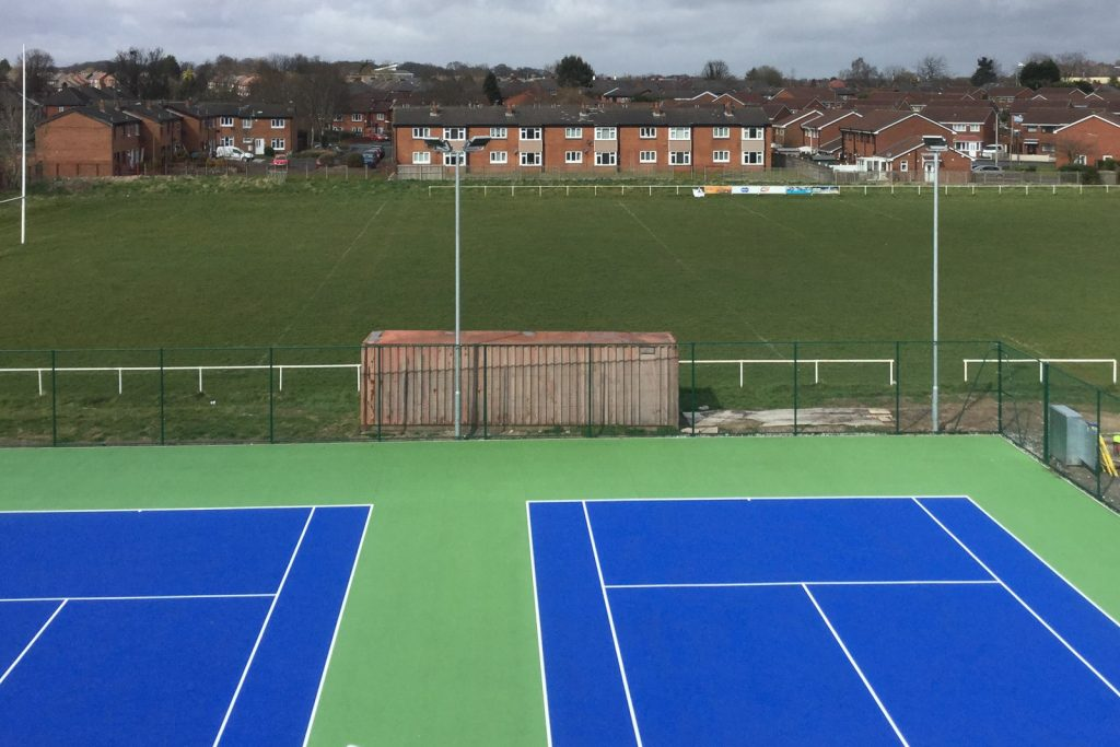 LED floodlights installed at courts in Warrington