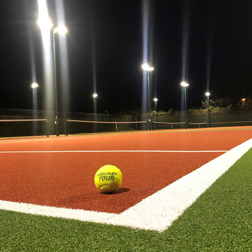 New LED Sports Floodlights Tennis Ball and Court