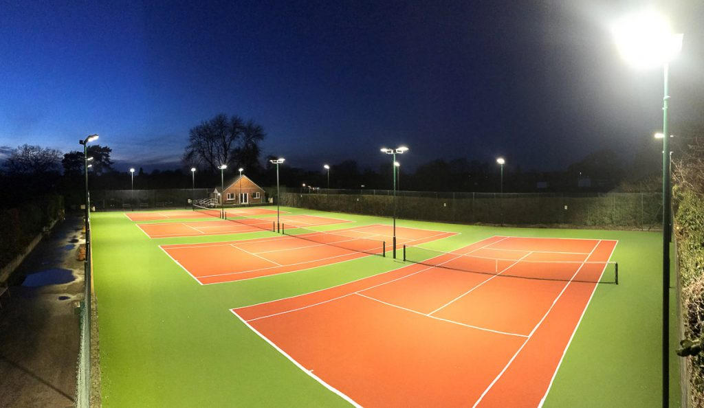 New LED Sports Floodlights at Tennis Court