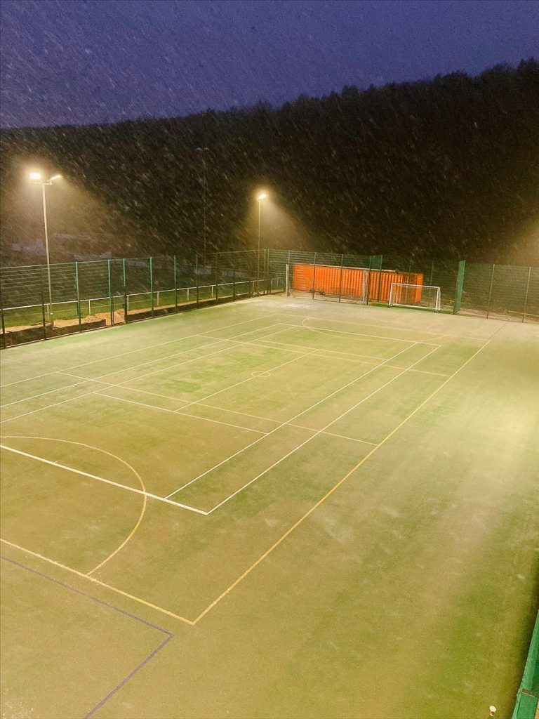 Sports floodlight installation in Nottinghamshire