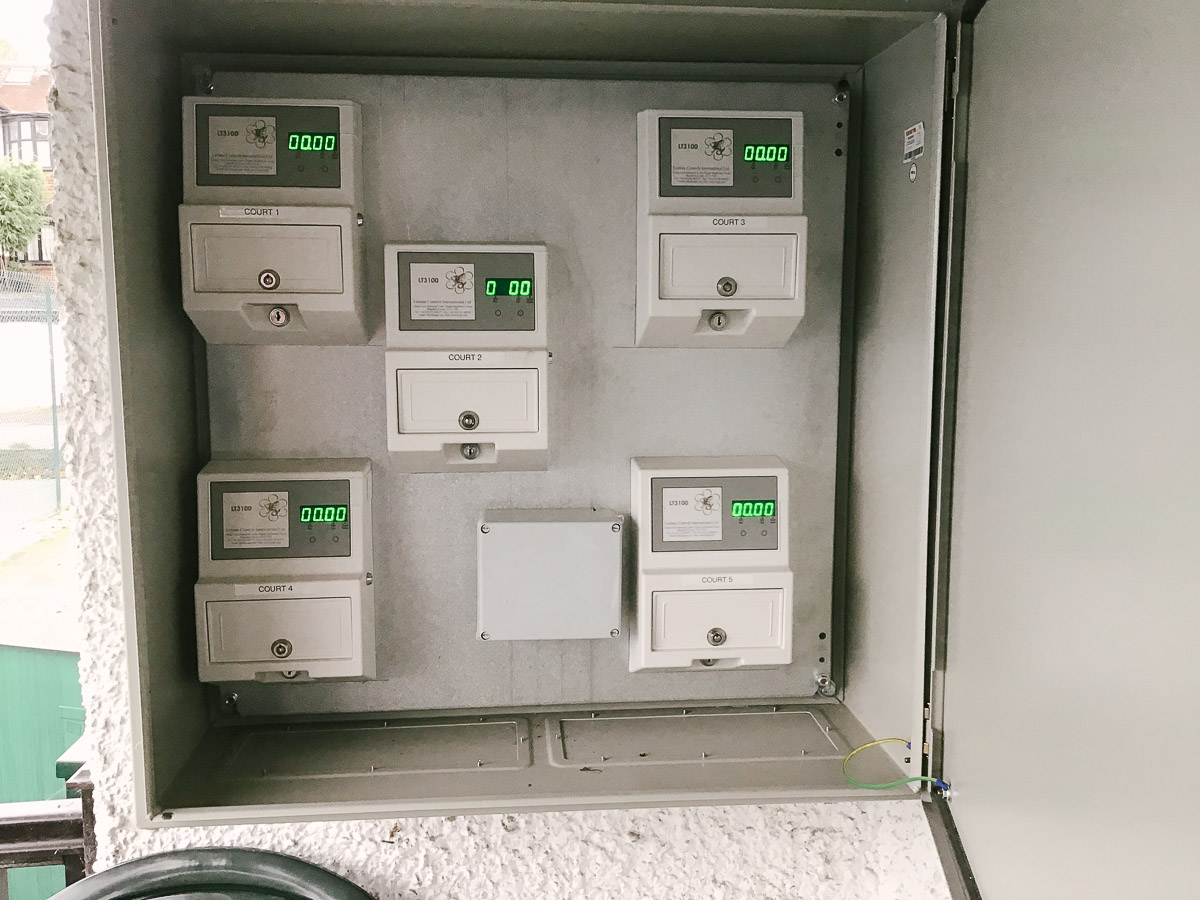 LED Floodlight meter boxes in South Croyden