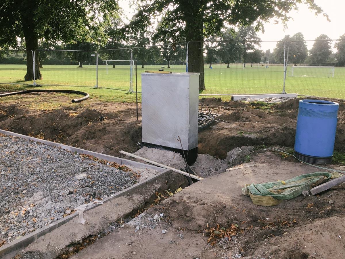 Floodlight distribution cabinet in Carlisle